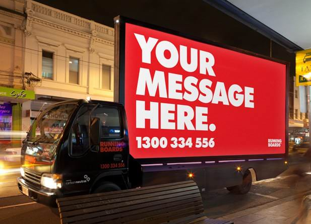 Cut Through With A Mobile Billboard